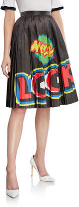 Moschino New Look Printed Pleated Skirt