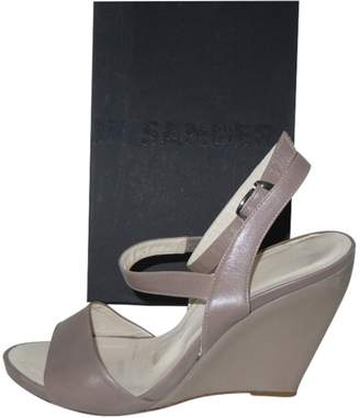 Jil Sander Grey Leather Sandals