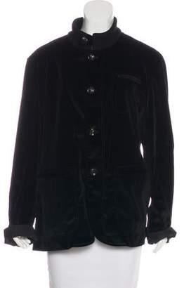 Armani Collezioni Collarless Velvet Jacket