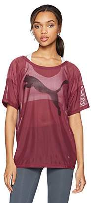 Puma Women's Dancer Drapey Mesh T-Shirt