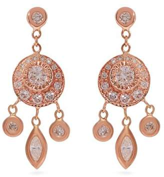 Jacquie Aiche Dreamcatcher Diamond & Rose Gold Earrings - Womens - Rose Gold