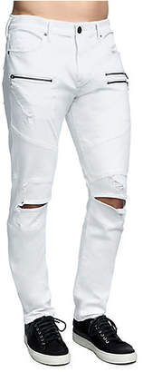 True Religion Mens Rocco Skinny Drift Moto Jean