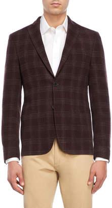 DKNY Burgundy Windowpane Sport Coat