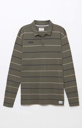 Hurley Channels Stripe Long Sleeve Polo Shirt