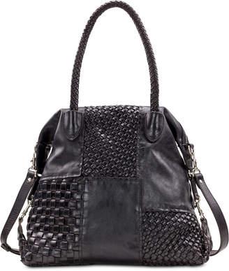 Patricia Nash Paloma Slouchy Woven Leather Satchel