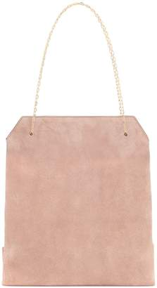 The Row Lunch Small suede shoulder bag