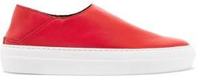 Tibi Charlie Leather Slip-on Sneakers