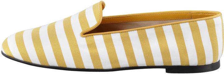 Tod's Striped Slipper, Yellow/White
