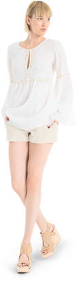 Max Studio embellished gauze tunic