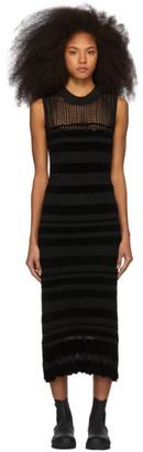 McQ Black Linen Lace Dress