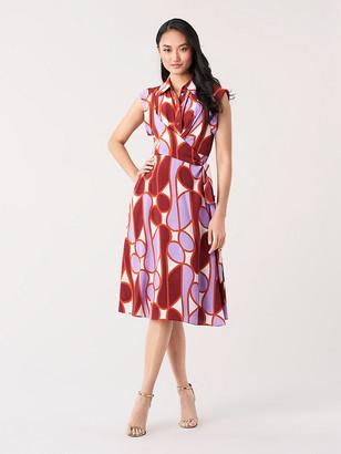 Diane von Furstenberg Avery Silk Crepe de Chine Faux-Wrap Dress