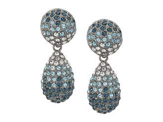 Nina Medium Teardrop Pave Swarovski Stones Earrings