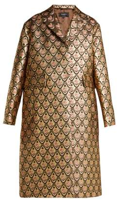 Rochas Single Breasted Floral Brocade Coat - Womens - Gold Multi
