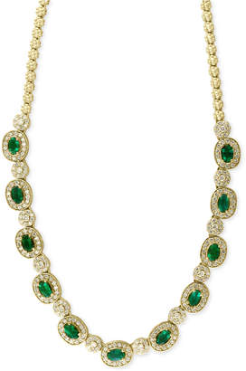 Effy Brasilica by Emerald (4-3/4 ct. t.w.) and Diamond (2-3/4 ct. t.w.) Collar Necklace in 14k Gold