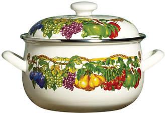 Tabletops Unlimited Kensington Garden Porcelain Enamel 3.8 Qt Covered Casserole