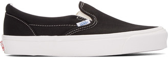 Vans Black OG Classic Slip-On Sneakers $60 thestylecure.com