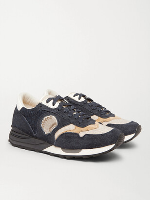 Visvim Roland Suede And Wool Sneakers