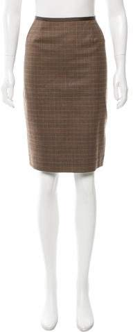 Michael Kors Plaid Pencil Skirt