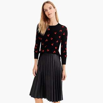 J.Crew Long-sleeve everyday cashmere crewneck sweater in cherries