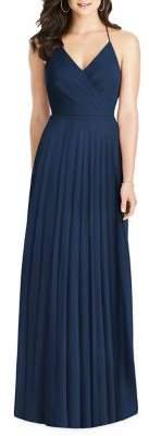 Dessy Collection Draped Ruffled Chiffon Dress