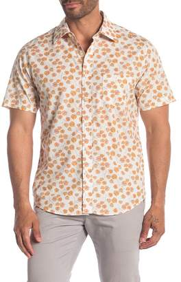 Kennington Find a Leaf Short Sleeve Slim Fit Woven Shirt