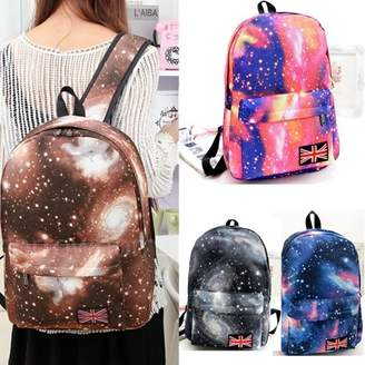 Unbrand Fashion Colorful Women Canvas Galaxy Backpack Pattern Outdoor Leisure Satchel School Bag Rucksack