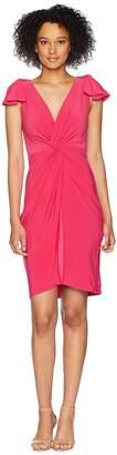Taylor Flutter Sleeve Knot Jersey Dress Women's Dress