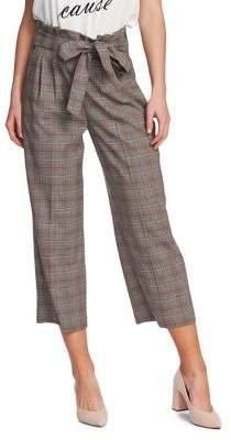 1 STATE 1.State Plaid Wide-Leg Pants