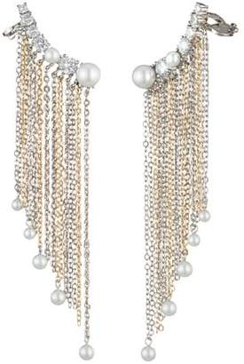 Carolee Asymmetrical Chain Fringe Ear Crawlers