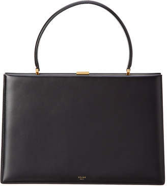 Celine Box Calfskin Leather Medium Clasp Bag