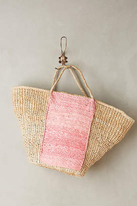Indego Africa Pink Straw Tote Bag $228 thestylecure.com