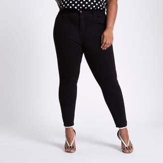 River Island Womens Plus Black Harper high waisted jeans