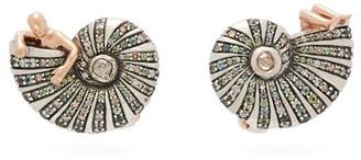 Bibi Van Der Velden - Poseidon's Getaway 18kt Gold & Sapphire Earrings - Womens - Green
