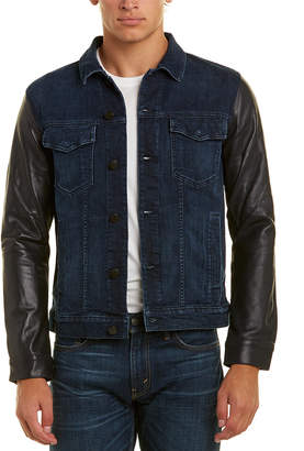 J Brand Denim And Leather Scorpius Jacket