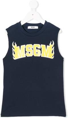 MSGM logo sleeveless top