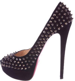 Christian Louboutin Lady Peep Spike Pumps $625 thestylecure.com