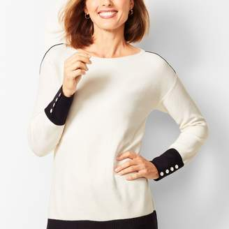 Talbots Colorblocked Boatneck Sweater