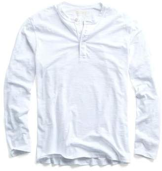 Todd Snyder MADE IN L.A. LONG SLEEVE HENLEY in WHITE