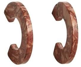 MANGO Mineral hoop earrings