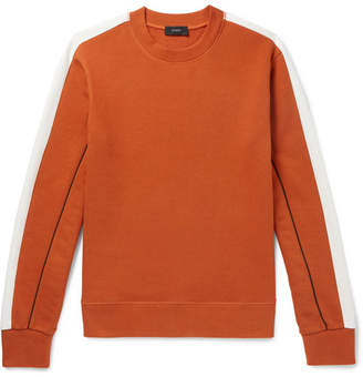 Joseph Colour-Block Loopback Cotton-Jersey Sweatshirt - Men - Orange