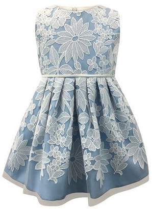 Helena Sleeveless Pleated Lace Dress, Size 2-6