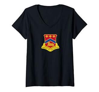 Womens 123rd Engineer Battalion V-Neck T-Shirt