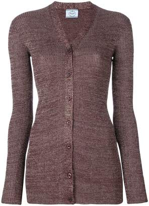 Prada metallic threading cardigan