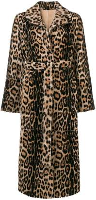 Yves Salomon leopard print fur coat