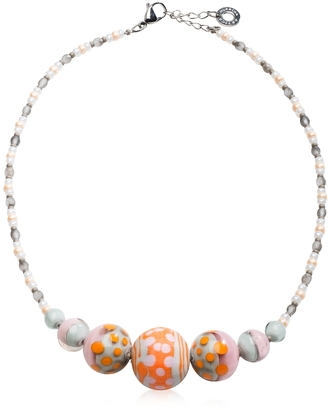 Antica Murrina Papaya 2 Orange Pastel Murano Glass Choker $75 thestylecure.com
