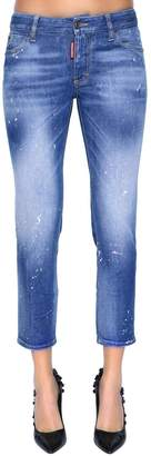DSQUARED2 Twiggy Mid Rise Cropped Denim Jeans
