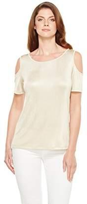 Calvin Klein Women's Metallic Cold Shoulder Top