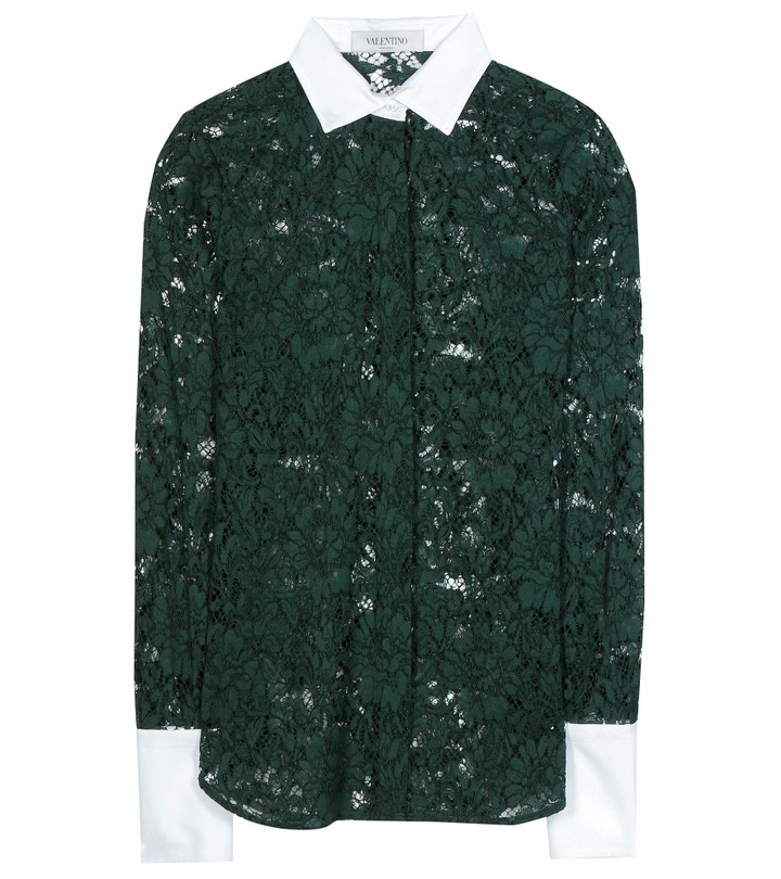 Valentino CHANTILLY LACE BLOUSE