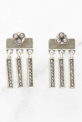 Luv Aj Silver Moroccan Dangle Stud Earrings