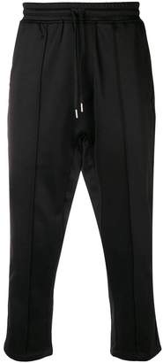 Stampd cropped track trousers